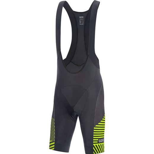 GORE C3 Bib Shorts+-black/citrus green