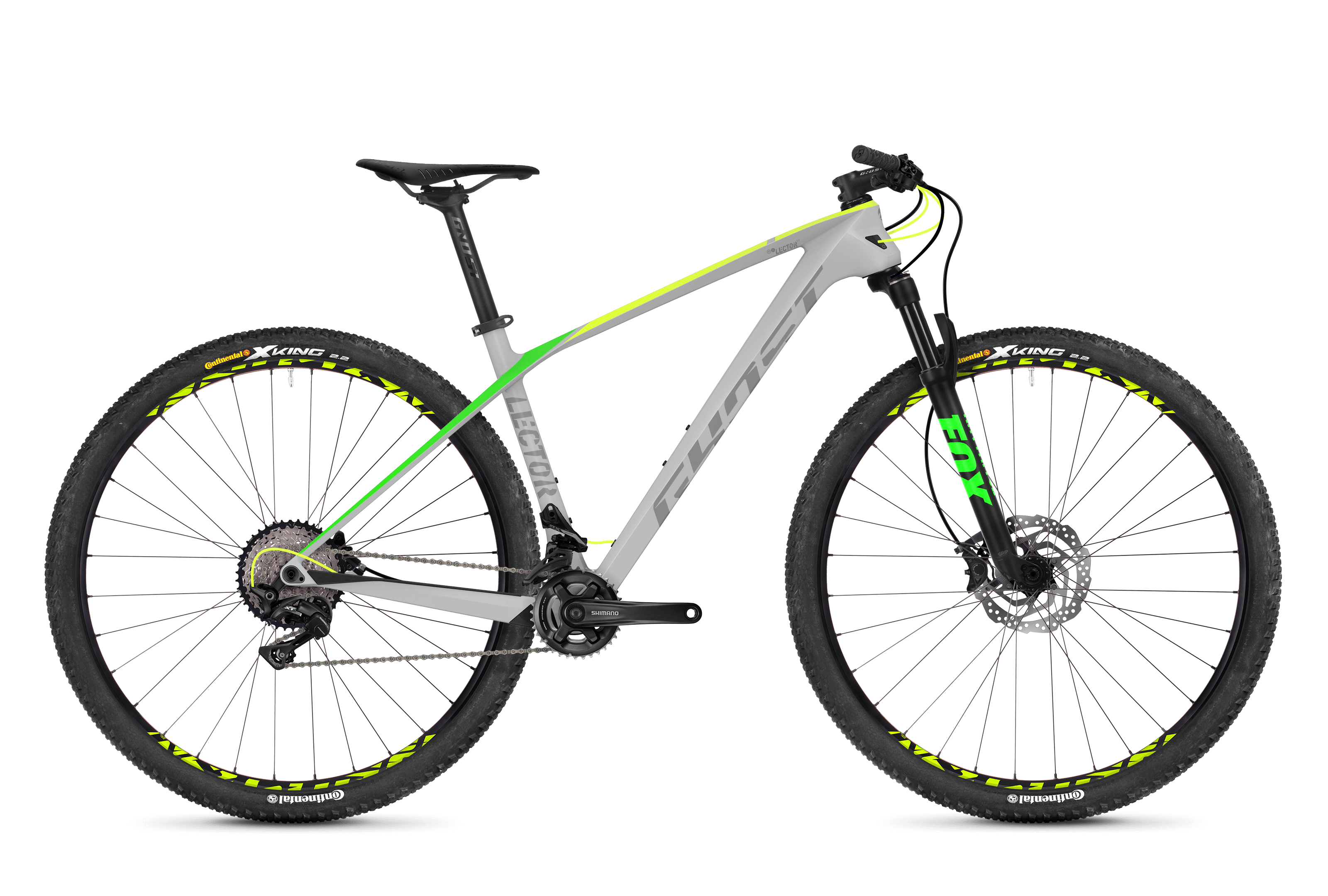 horské kolo GHOST Lector 3.9 LC grey/yellow/green  r.2018 vel.L